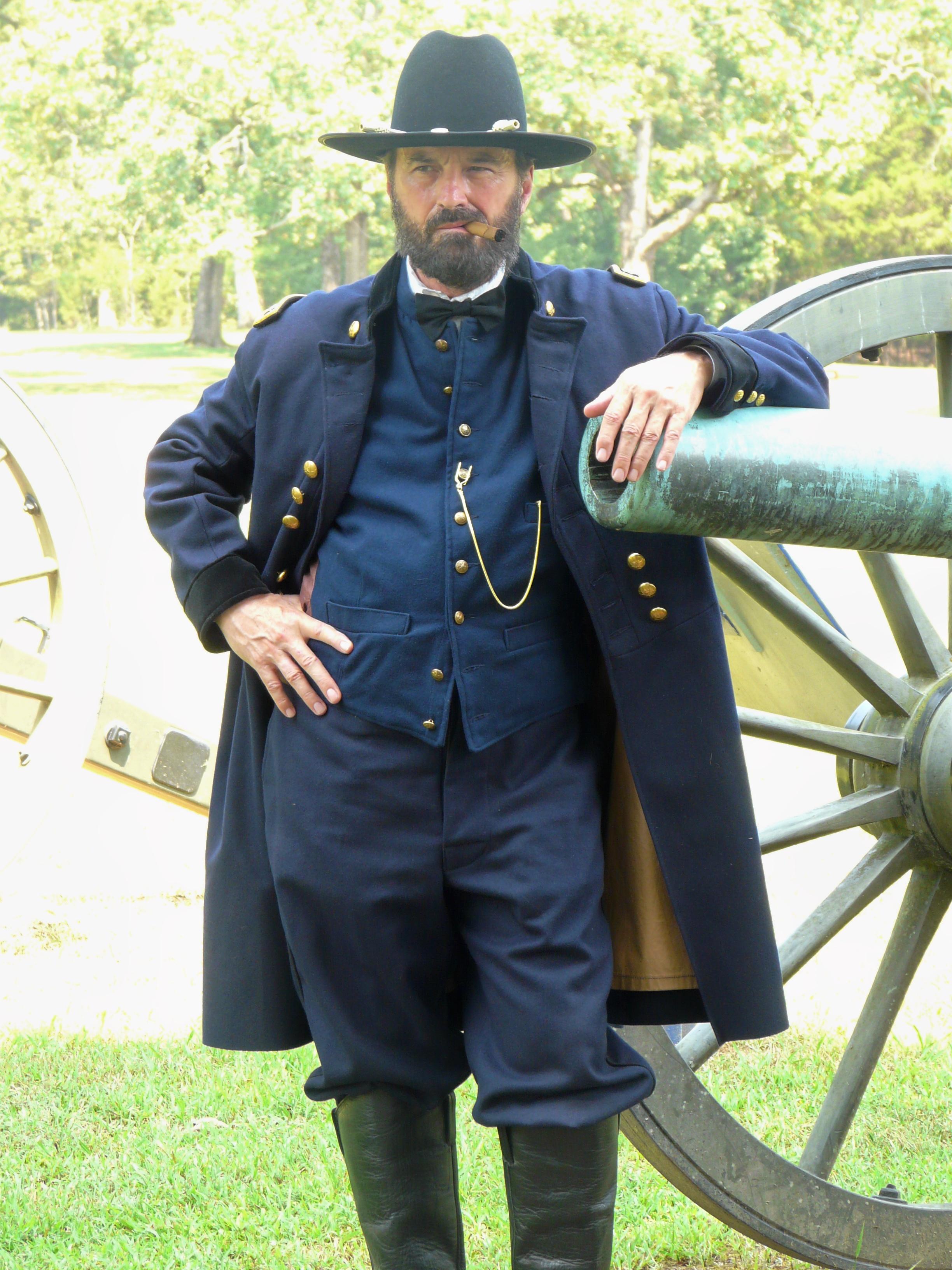 Shiloh, Grant in front of gun