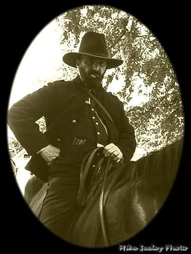 Appomattox 14 Grant on horse B and W